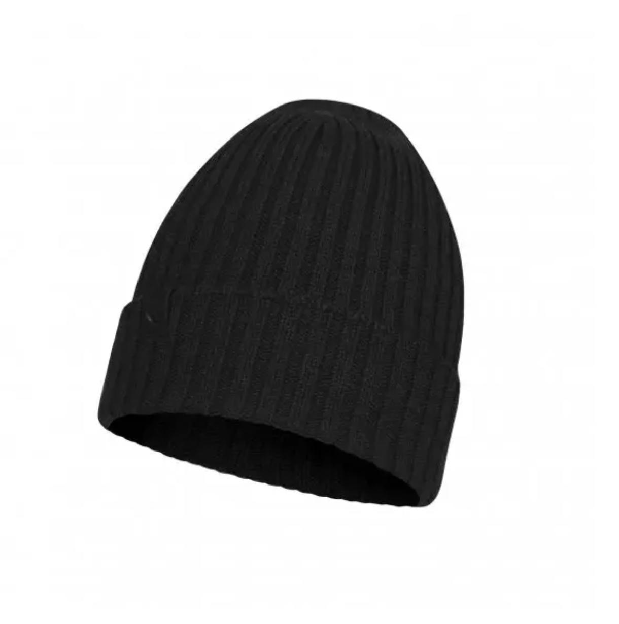 Buff Merino Wool Knit Hat-1