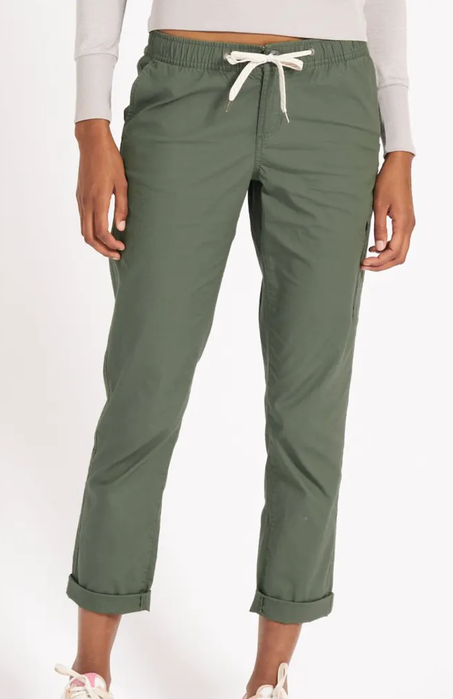 Women's Ripstop Pant Army Green-1