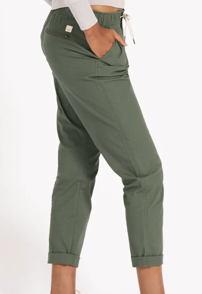 Women's Ripstop Pant Army Green-2