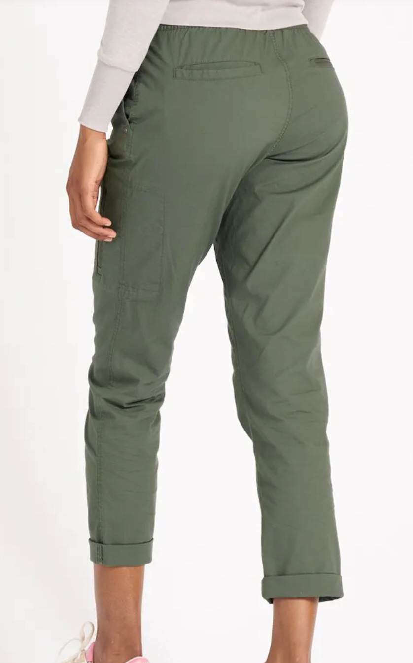 Women's Ripstop Pant Army Green-3