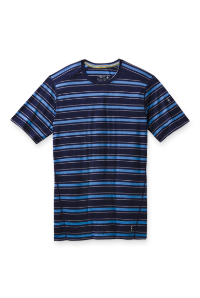 Men's Merino Navy Striped Tee
