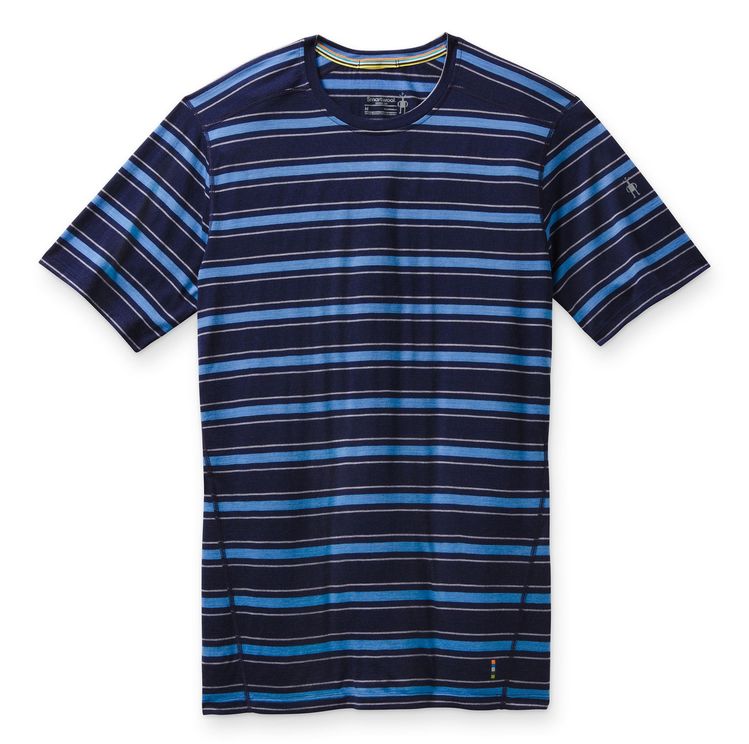 Men's Merino Navy Striped Tee-1