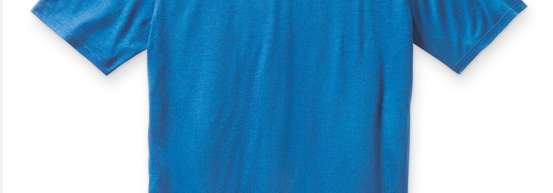 Men's Merino Ocean Blue Tee