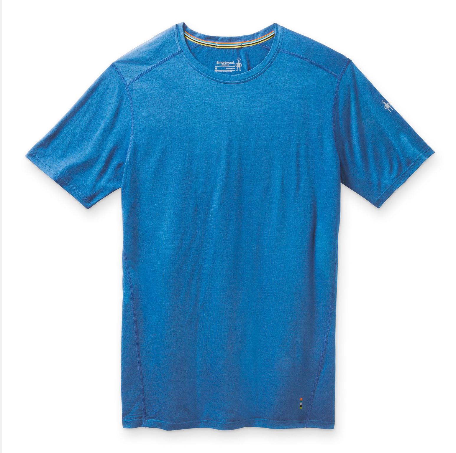 Men's Merino Ocean Blue Tee-1
