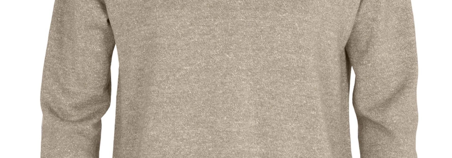 Women's Flaxen V-Neck  Sweater Tan