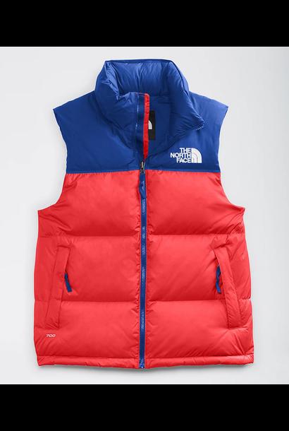 Men's 1996 Retro Nuptse Vest Red/Blue