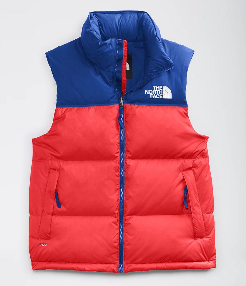 Men's 1996 Retro Nuptse Vest Red/Blue-1