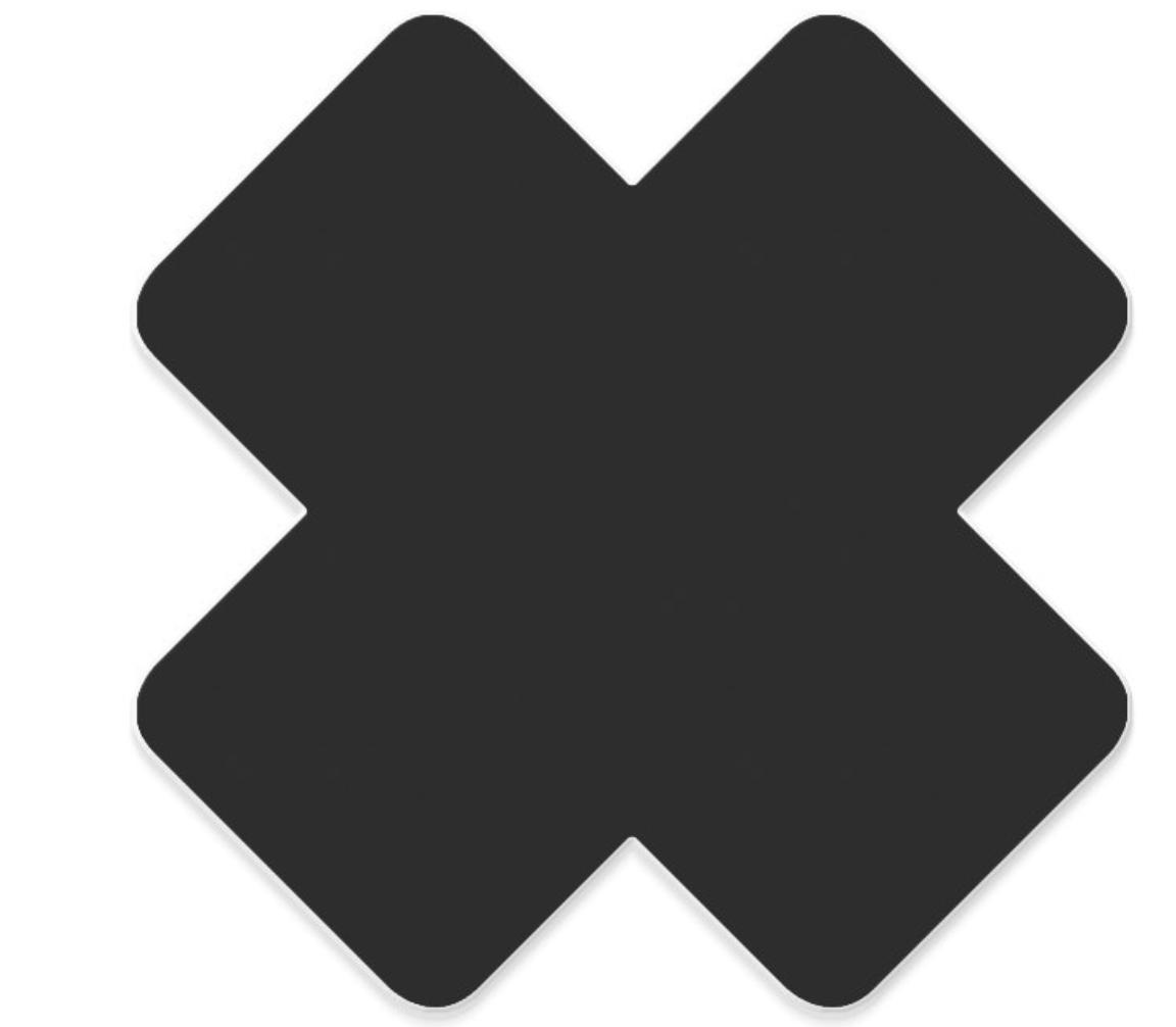 Logo X Black Repair Patch-1