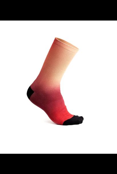 "7mesh Fading Light Sock 7.5"" Electric Watermelon"