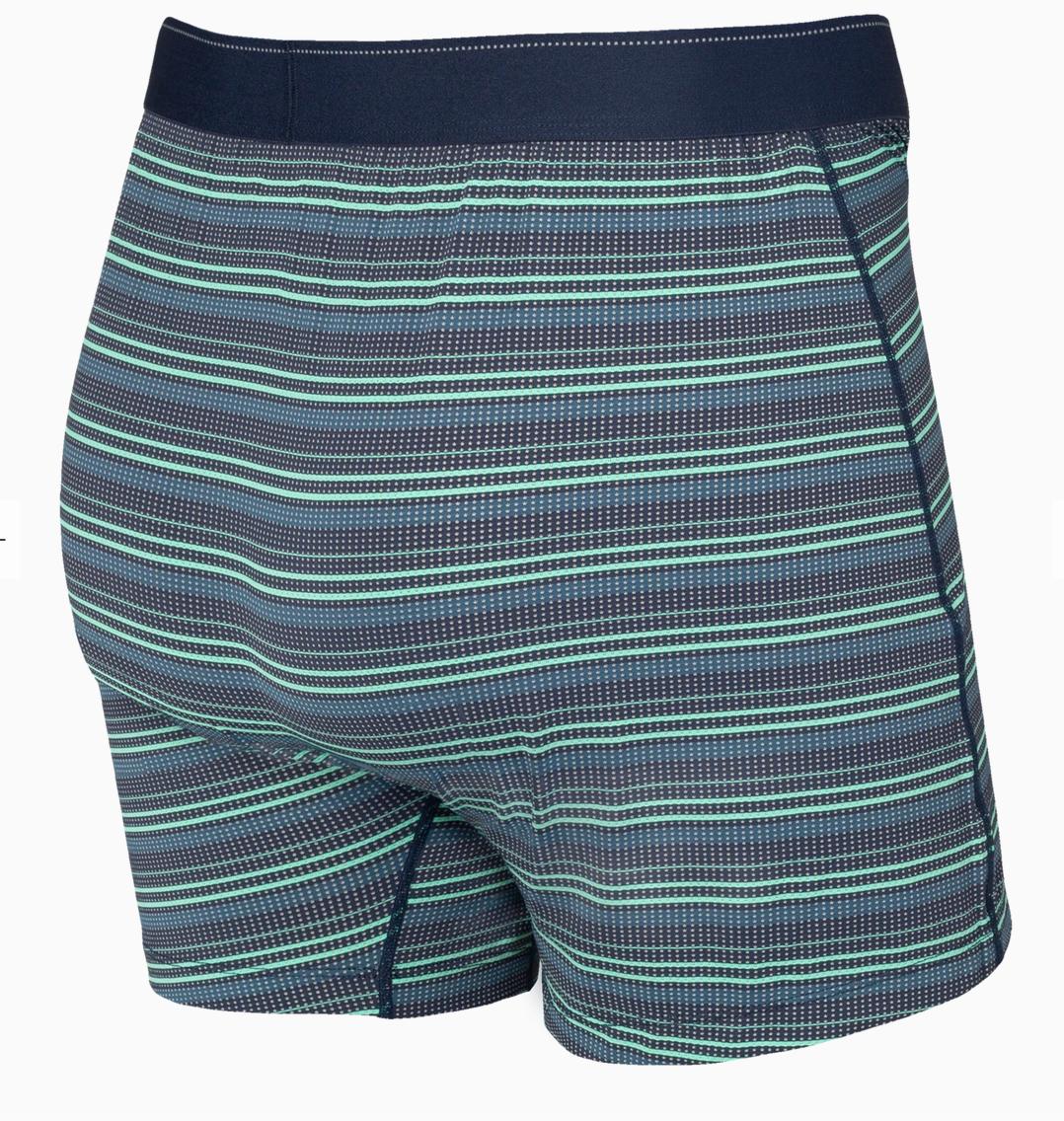 Quest Boxer Brief Green Sunruse Stripe-2