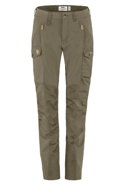 Women's Nikka Curved Trousers Light Olive