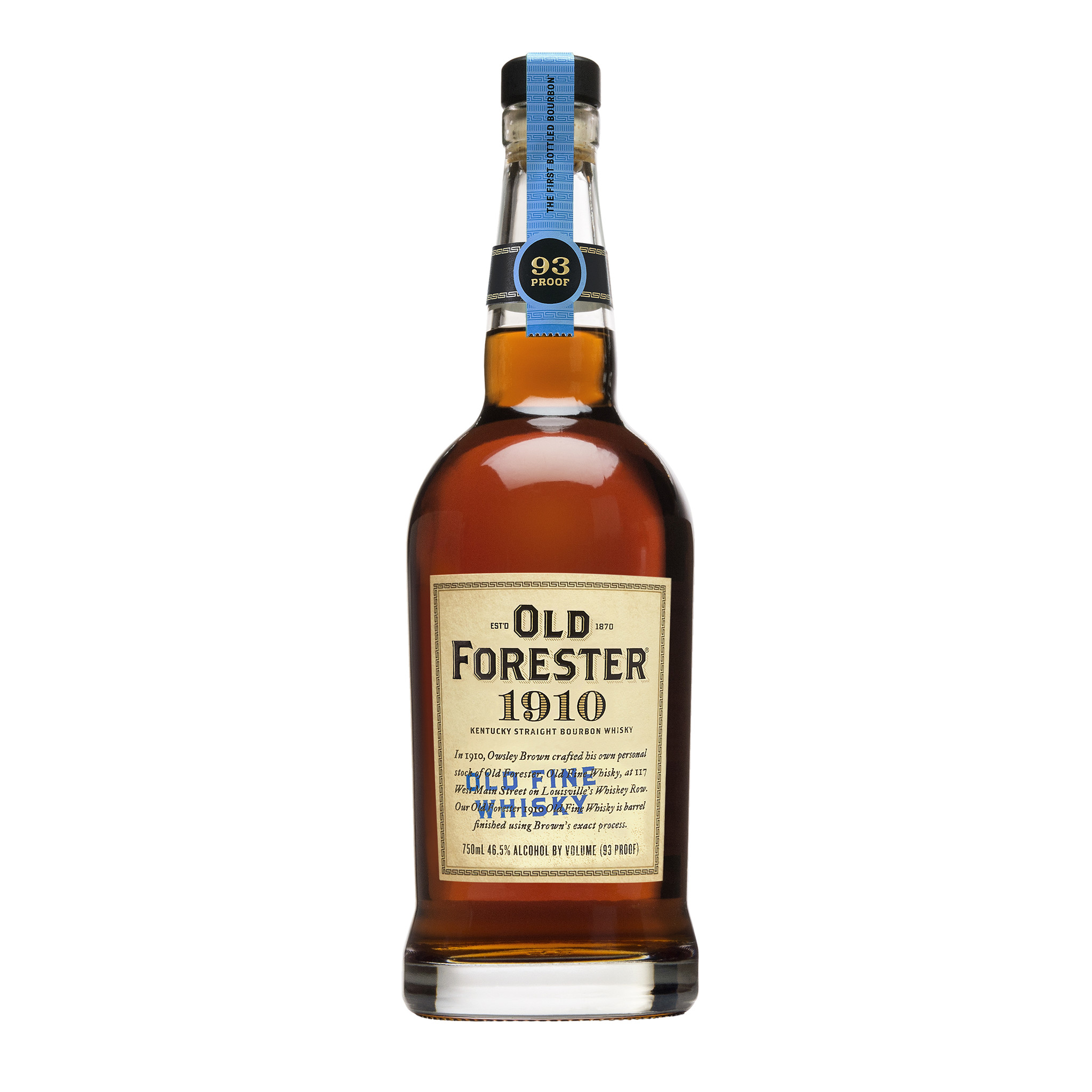 OLD FORESTER 1910, OLD FINE WHISKY, 750 ml