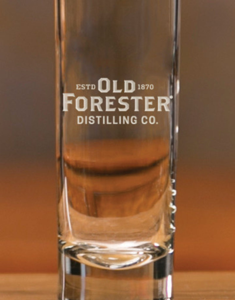 OLD FORESTER TUBE SHOT GLASS