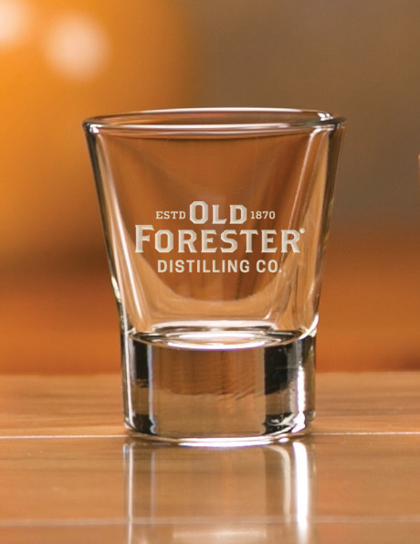 OLD FORESTER FLARED SHOT GLASS
