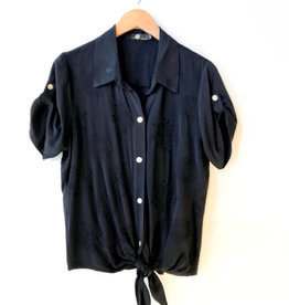 M Made in Italy Front Tie Blouse