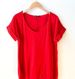 M Made in Italy V-Neck Tee w Rolled Sleeve