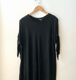M Made in Italy Knot Sleeve Dress