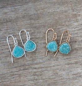 Glee Glimmer Earrings - Aqua