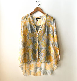 M Made in Italy Yellow Floral Blouse