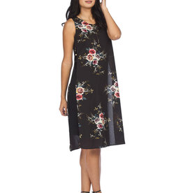 Papillon Dress With Floral Overlay