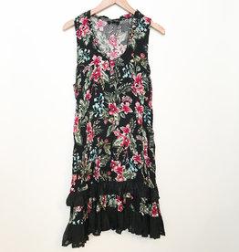 Papillon Red and Black Ruffle Hem Dress