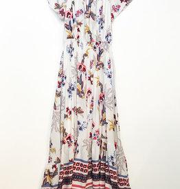 Papillon Off the Shoulder Floral High Low Dress