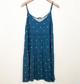 Papillon Polka Dot Tiered Short Slip Dress