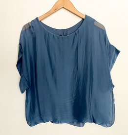 M Made in Italy Woven S/S Top
