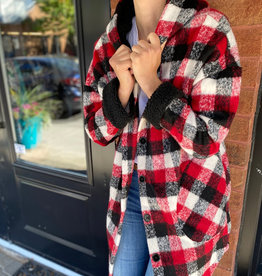 RD International Plaid Hooded Jacket