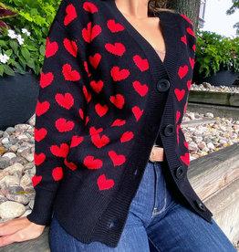 Molly Bracken Molly Red Heart Cardigan