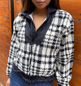 RD International Plaid Sherpa Jacket