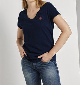Tom Tailor TT V-Neck Tee With Embro