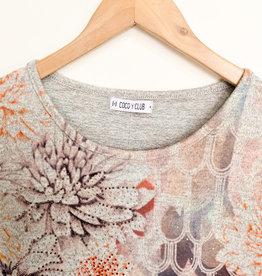 CYC CYC Floral Long Sleeve Top with Rhinestones