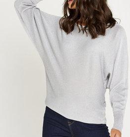 Apricot Fint Lurex Batwing Sweater