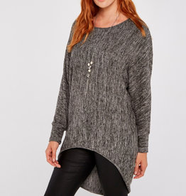 Apricot Apricot Marl Necklace Batwing Top