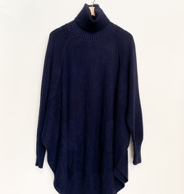 M Made in Italy M Long T-Neck Poncho Sweater