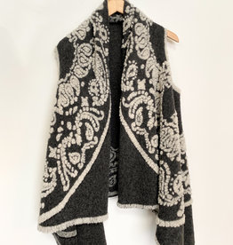 M Made in Italy M Woven Embroidered Trim Vest