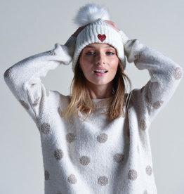 Molly Bracken Heart Embroidered Hat