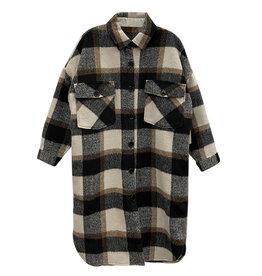 RD International Black Plaid 2Pckt Long Jacket