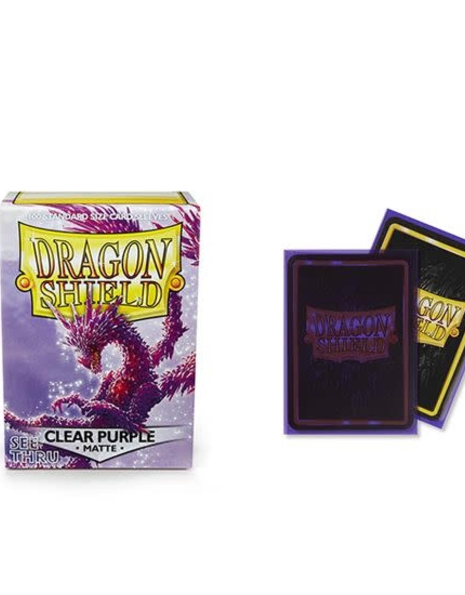Arcane Tinmen Dragon Shield Matte Clear Purple (100)