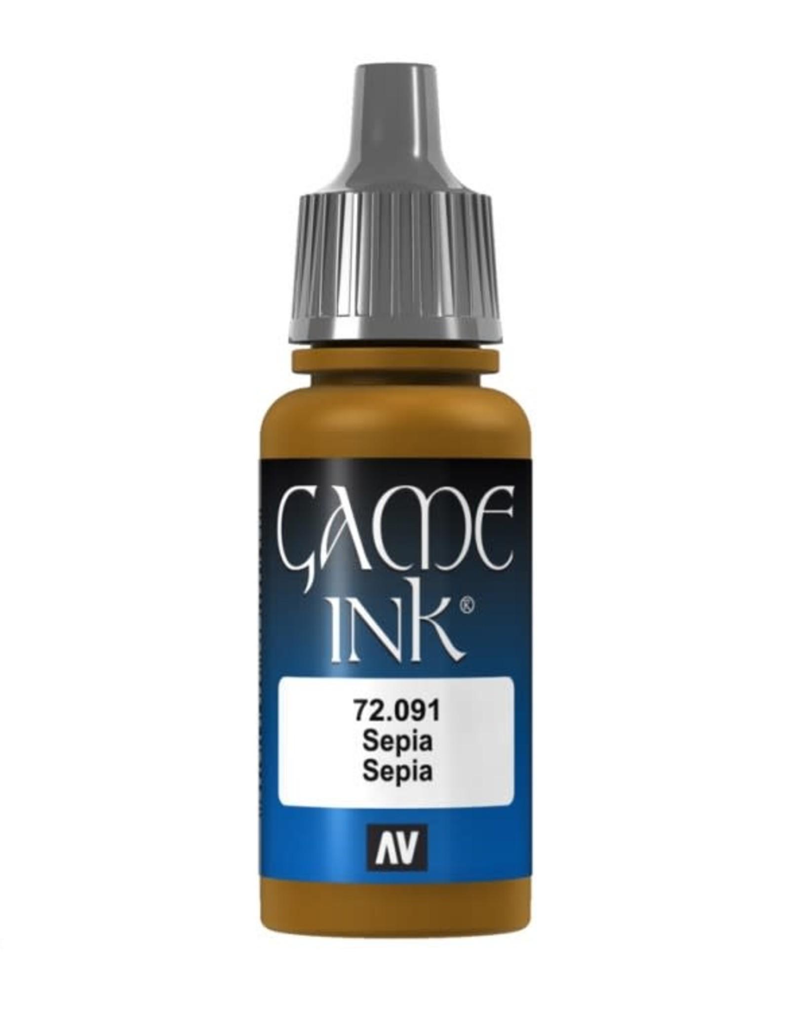 VALLEJO GC: Ink: Sepia  Ink (17 ml.)