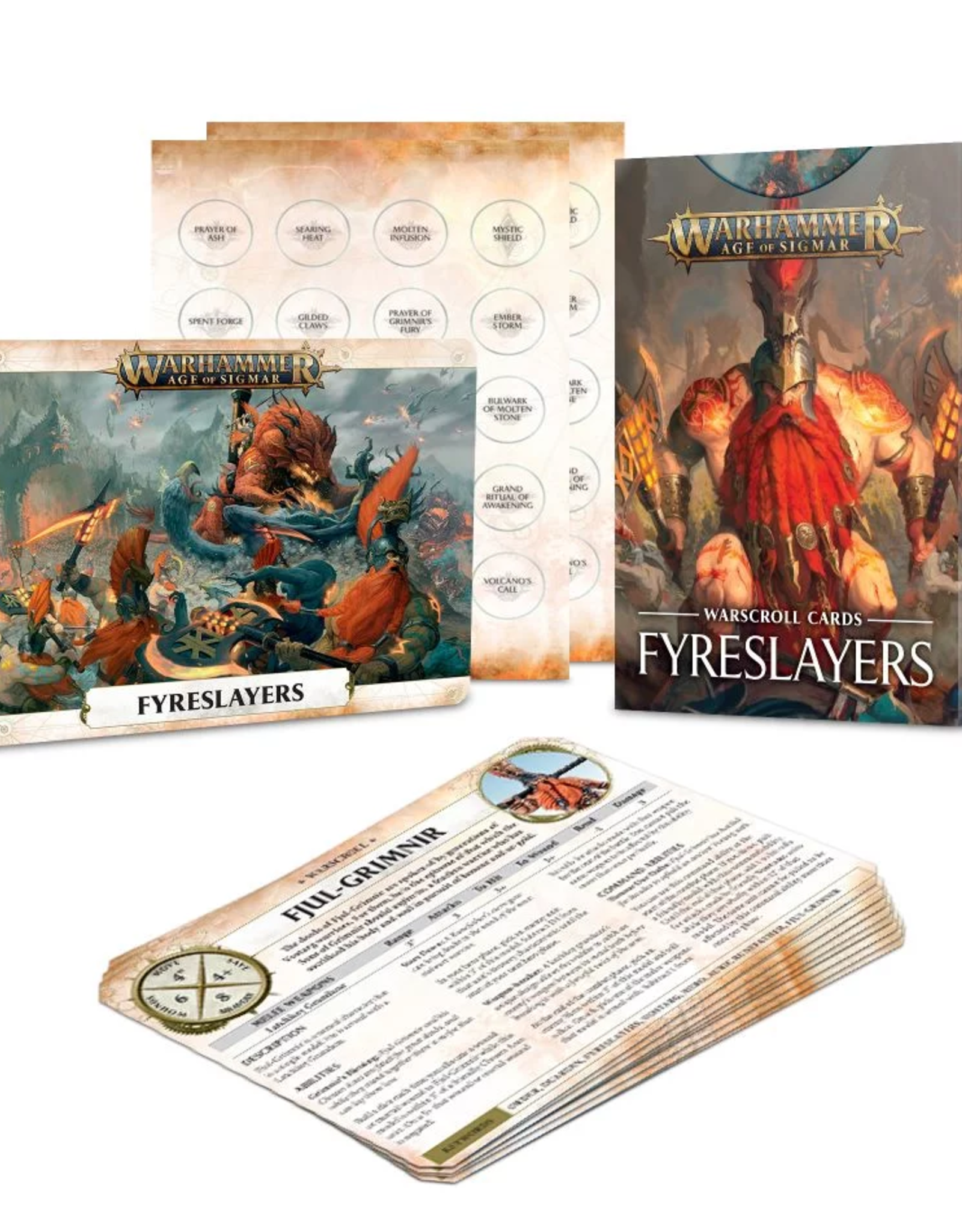 Games Workshop AoS: Warscroll Cards Fyreslayers