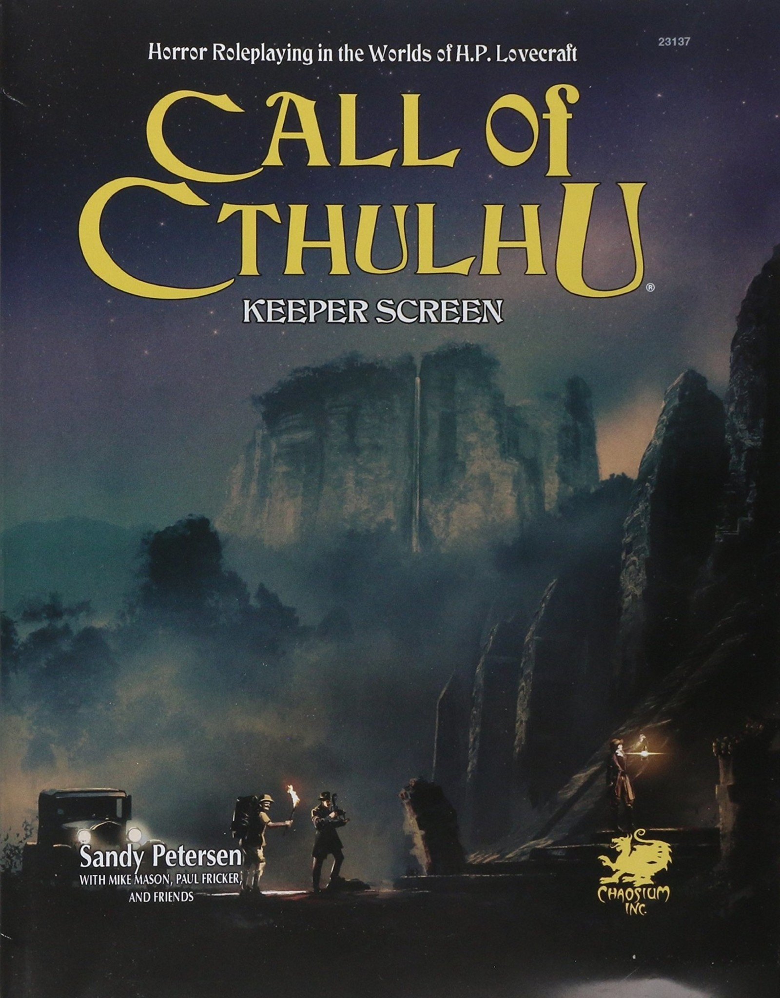 Chaosium Call of Cthulhu Keepers Screen