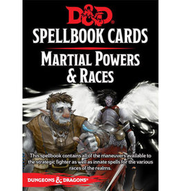 Gale Force 9 D&D 5th: Spellbook Cards: Martial Powers & Races (large packaging)
