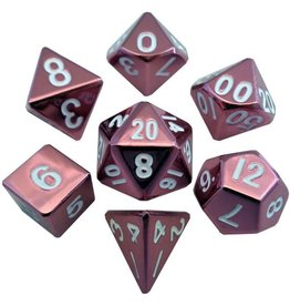Metallic Dice Game Metalic Dice Games Red 7-Set