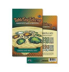 Tabletop Tokens: Trees & Rocks