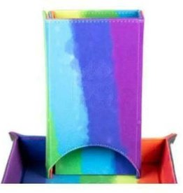 Dice Tower: Leather Fold Rainbow