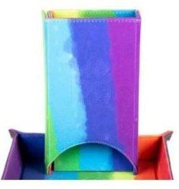 Metallic Dice Game Dice Tower: Velvet Fold Rainbow