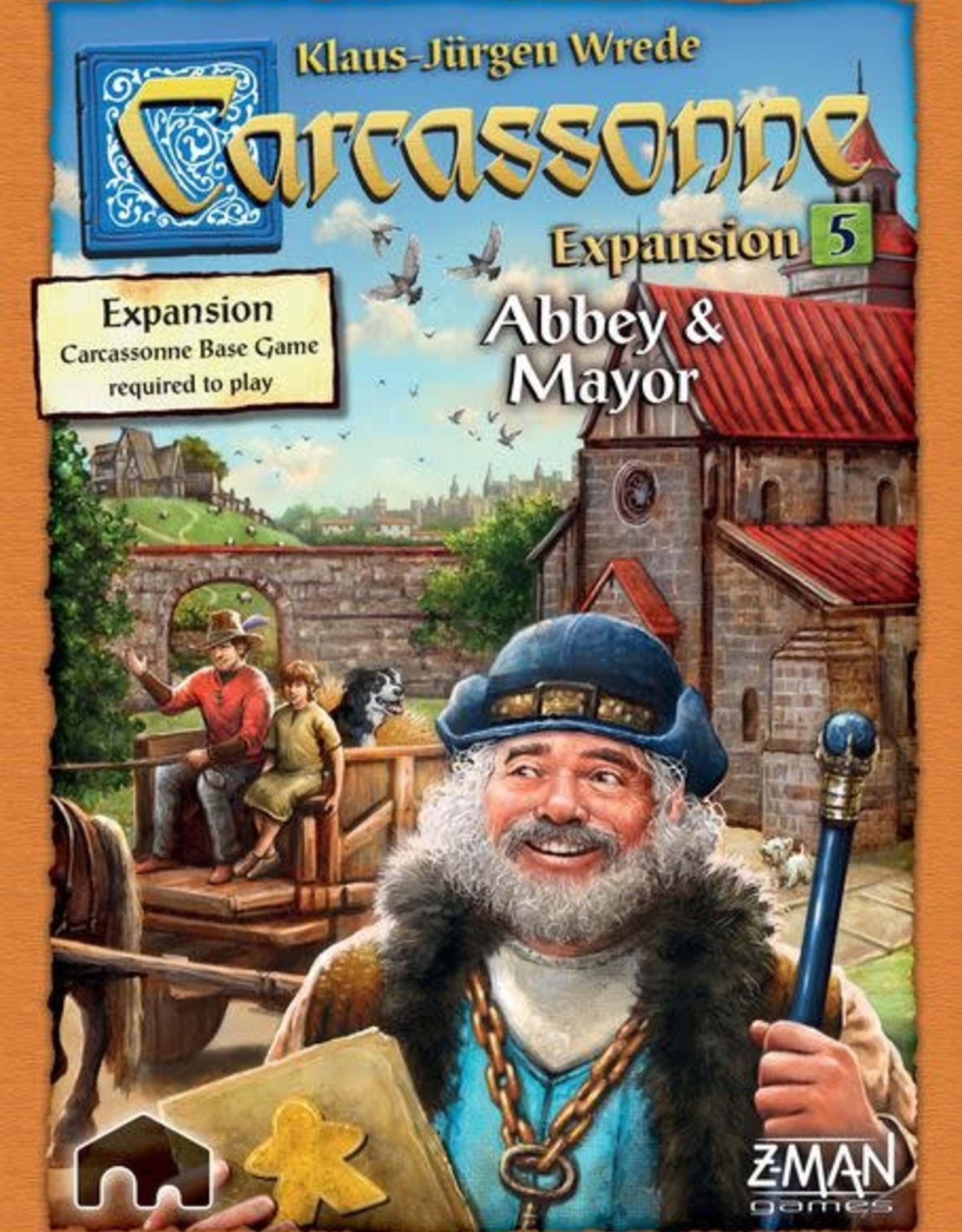 Z-Man Games Carcassonne Exp 5: Abbey & Mayor