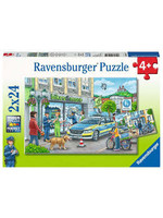 Ravensburger 2x24pc puzzle Police at Work!
